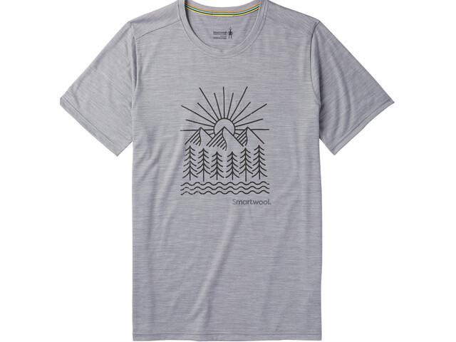 Smartwool Merino Sport 150 Mountain Morning t-shirt Heren grijs